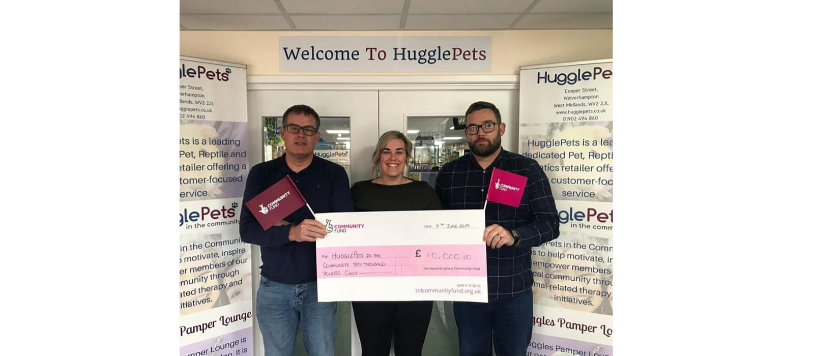 HugglePetsCIC Awarded Lottery Funding